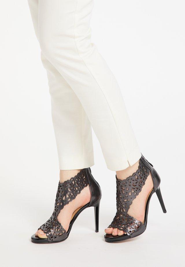 Sandalen met hoge hak - schwarz