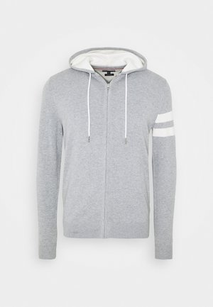 ICON STRIPE HOODY - Cardigan - grey