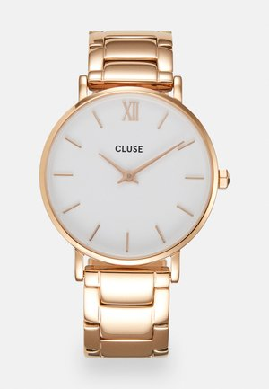 MINUIT - Hodinky - rose gold-coloured/white
