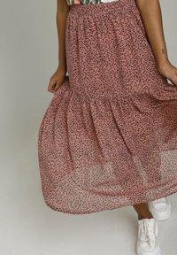Kaffe - BPFILUA - A-line skirt - old rose with black flowes - 3