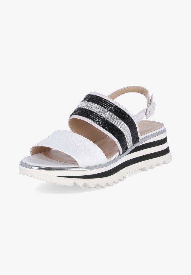 Platform sandals - weiß-kombi
