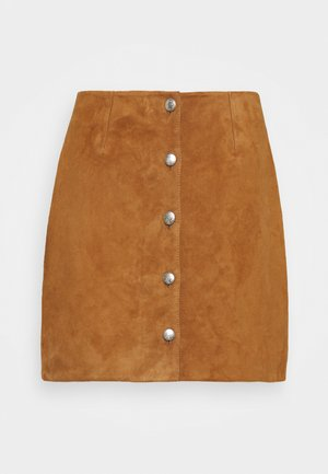 PENCIL SKIRT - Mini skirt - tan