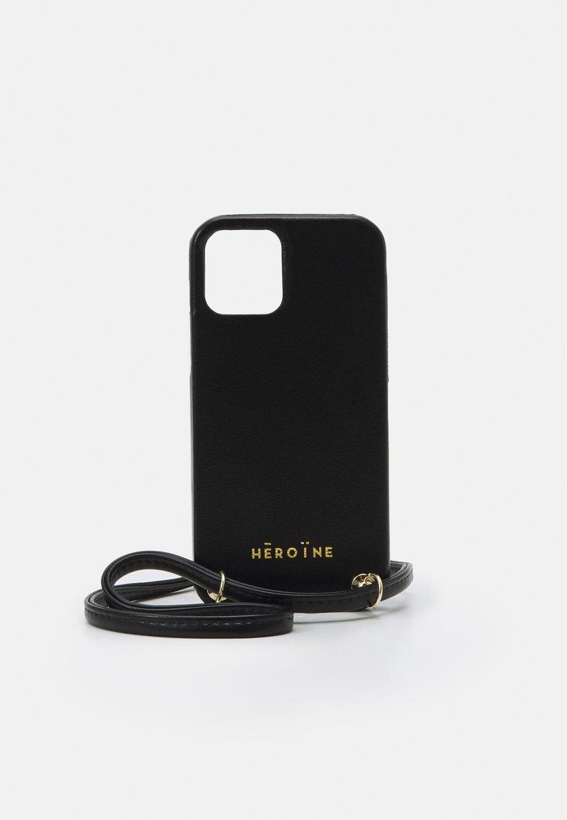 Maison Hēroïne - YUNA IPHONE 12 HANDYKETTE NECKLACE - Phone case - black