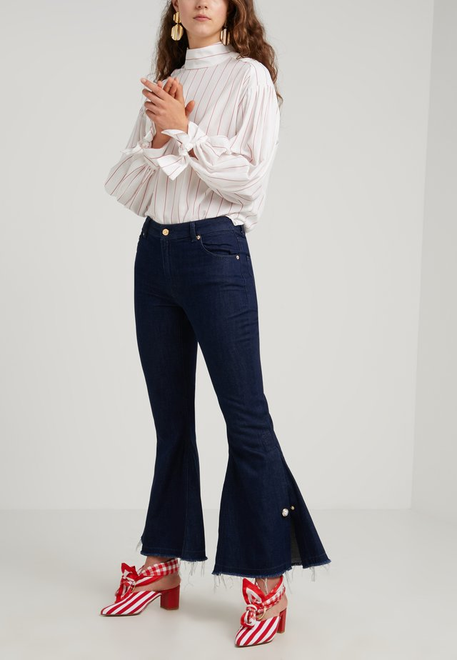 ASHLEY - Bootcut jeans - navy