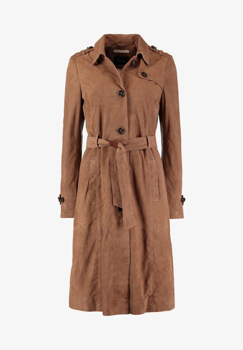 DNR Jackets - MIT BINDEGÜRTEL UND KNOPFLEISTE - Trenchcoat - brown