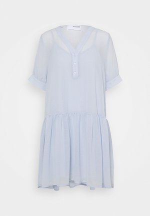 SLFABIGAIL SHORT DRESS - Shirt dress - arctic ice