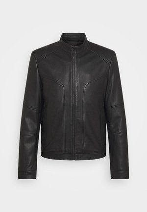 LONOS - Leather jacket - black