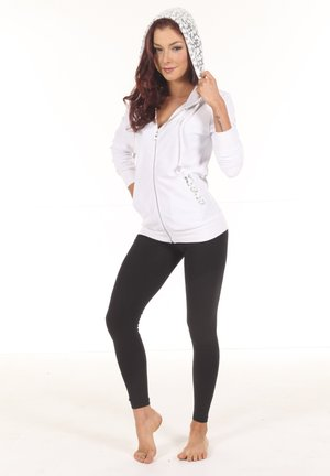 YUKI - Mikina na zip - white