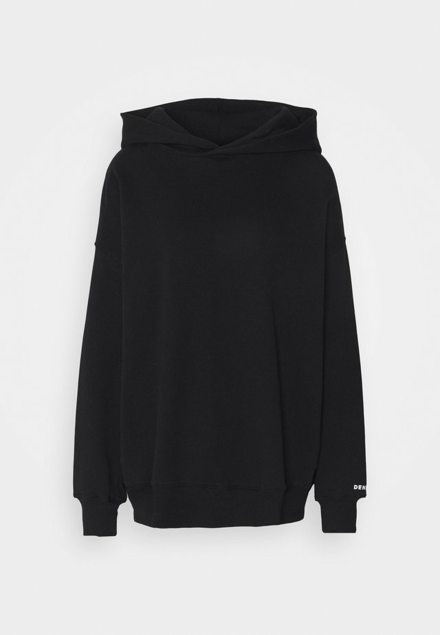 WISTERIA BRAND HOODY - Sweat à capuche - washed black