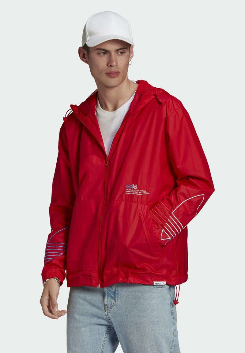 adidas Originals - ADICOLOR FTO WINDBREAKER - Cortaviento - red