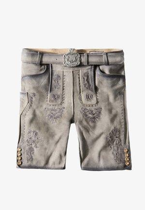 Leather trousers - rauch geäscht