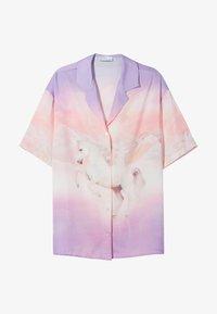 Bershka - Button-down blouse - mauve - 4