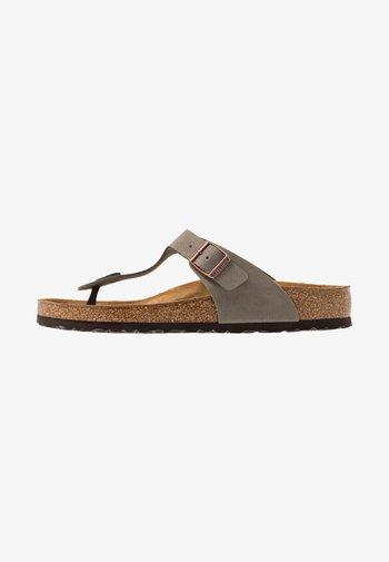 GIZEH - T-bar sandals - stone