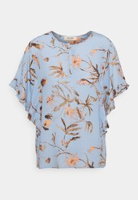 Mos Mosh - TARA THISTLE BLOUSE - Print T-shirt - bel air blue - 0