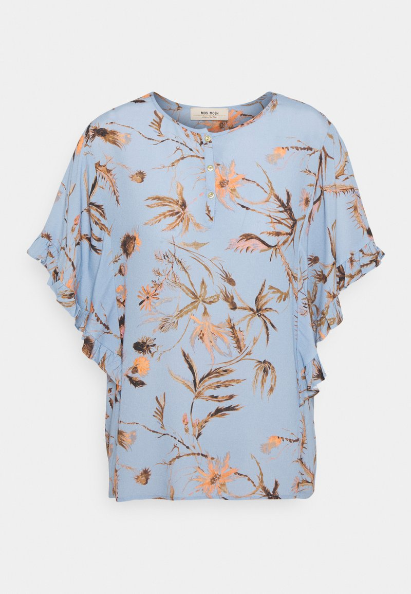 Mos Mosh - TARA THISTLE BLOUSE - Print T-shirt - bel air blue