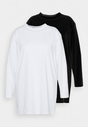 BASIC DRESS 2 PACK - Jersey dress - black/white