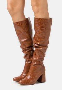 4th & Reckless - HADLEY - Vysoká obuv - tan - 0