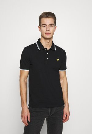 SEASONAL TIPPED  - Poloshirt - jet black/white