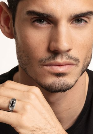 Ring - silver coloured/black