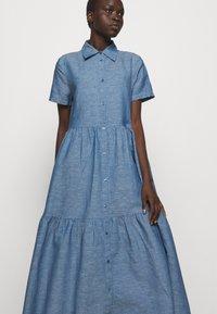 HUGO - ENNISH - Košilové šaty - medium blue - 5
