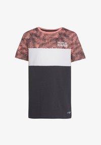 WE Fashion - MIT HD-SCHRIFTZUG - Print T-shirt - anthracite - 0