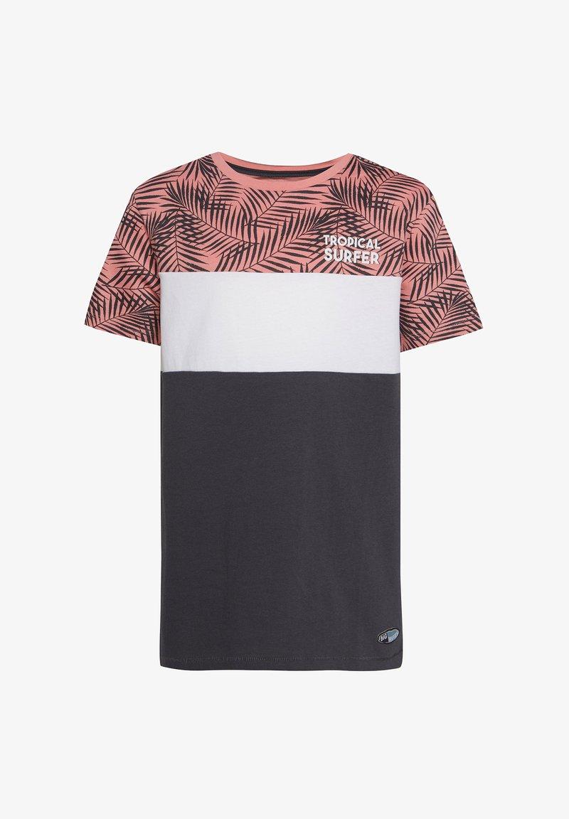 WE Fashion - MIT HD-SCHRIFTZUG - Print T-shirt - anthracite
