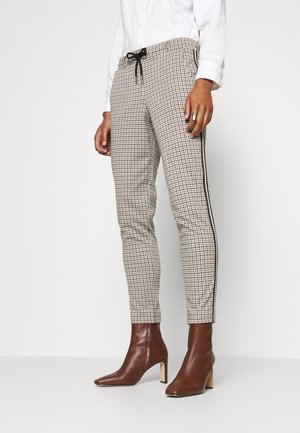CHECKED PANTS - Kangashousut - camel
