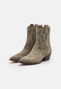 Alpe - TEJANA - Cowboy/biker ankle boot - army - 2
