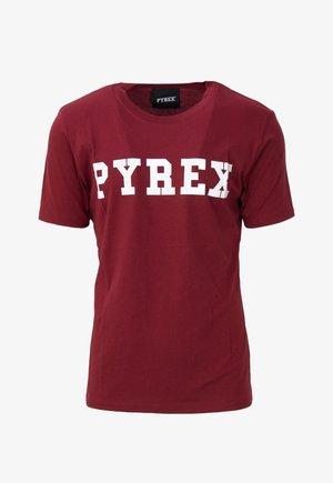 MAGLIA  - T-shirt con stampa - bordeaux