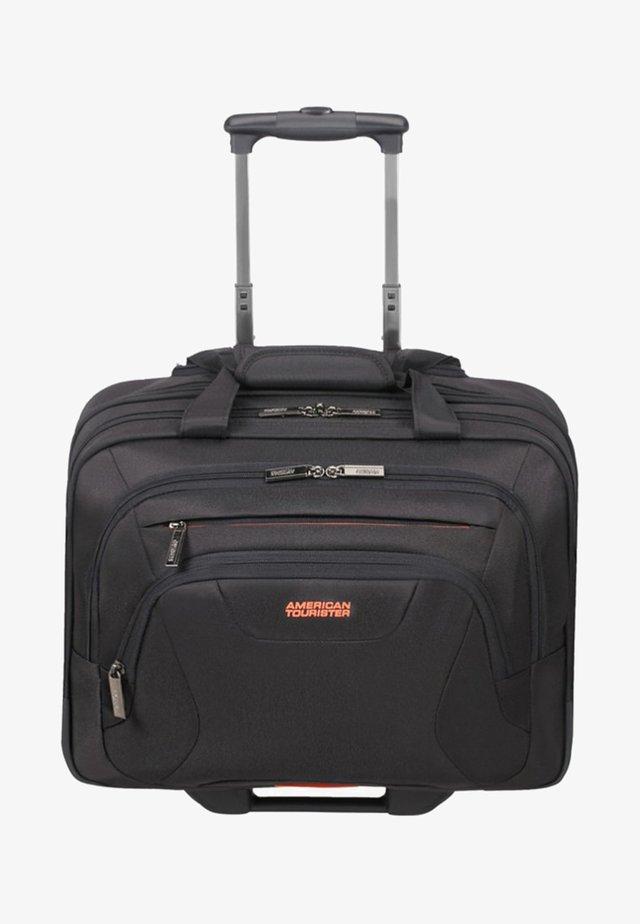MIT ROLLEN  - Wheeled suitcase - black/orange