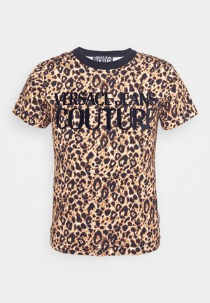 LEO - T-shirts med print - brown