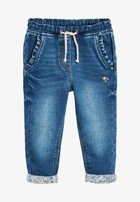 Next - GREY FRILL POCKET PULL-ON JEANS (3MTHS-7YRS) - Straight leg jeans - blue - 0