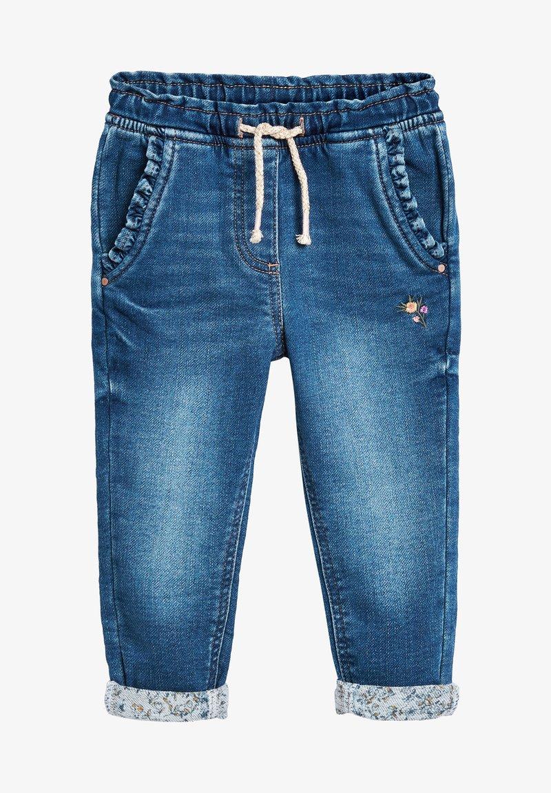 Next - GREY FRILL POCKET PULL-ON JEANS (3MTHS-7YRS) - Straight leg jeans - blue