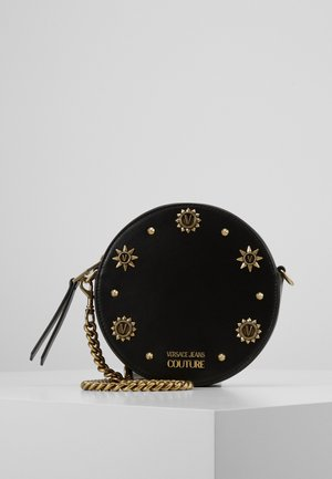 ROUND CIRCLE CROSSBODY STUDDED - Umhängetasche - nero