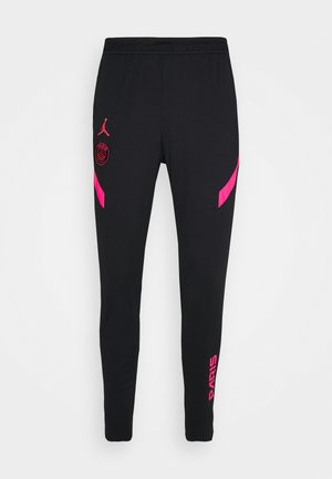 PARIS ST GERMAIN PANT - Tracksuit bottoms - black/hyper pink/hyper pink