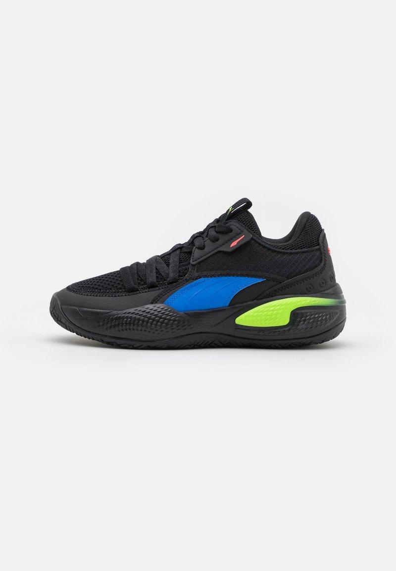 Puma - COURT RIDER POP JR UNISEX - Basketball shoes - black/bluemazing