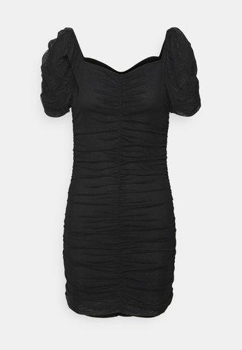 VIANEMONE GATHERING DRESS - Vestito elegante - black