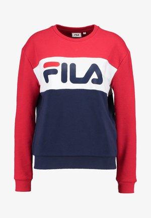 LEAH CREW - Sweatshirt - dark blue/true red/bright white