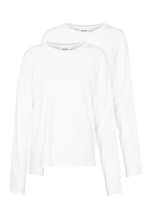 ALANIS 2 PACK - Long sleeved top - white/white