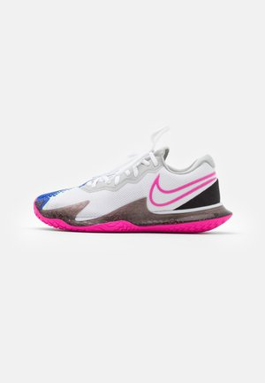 AIR ZOOM VAPOR CAGE 4 - Multicourt tennis shoes - white/laser fuchsia/sapphire/hot lime
