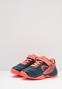 Head - SPRINT 3.0 KIDS - Tenisové boty na všechny povrchy - midnight navy/neon red - 3