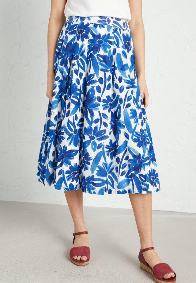 SEA MIST - Pleated skirt - blue