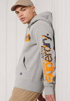 HERITAGE MOUNTAIN GRAPHIC - Sweatjacke - grey marl