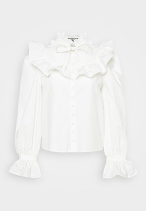 YOGHURT - Blouse - cream cotton