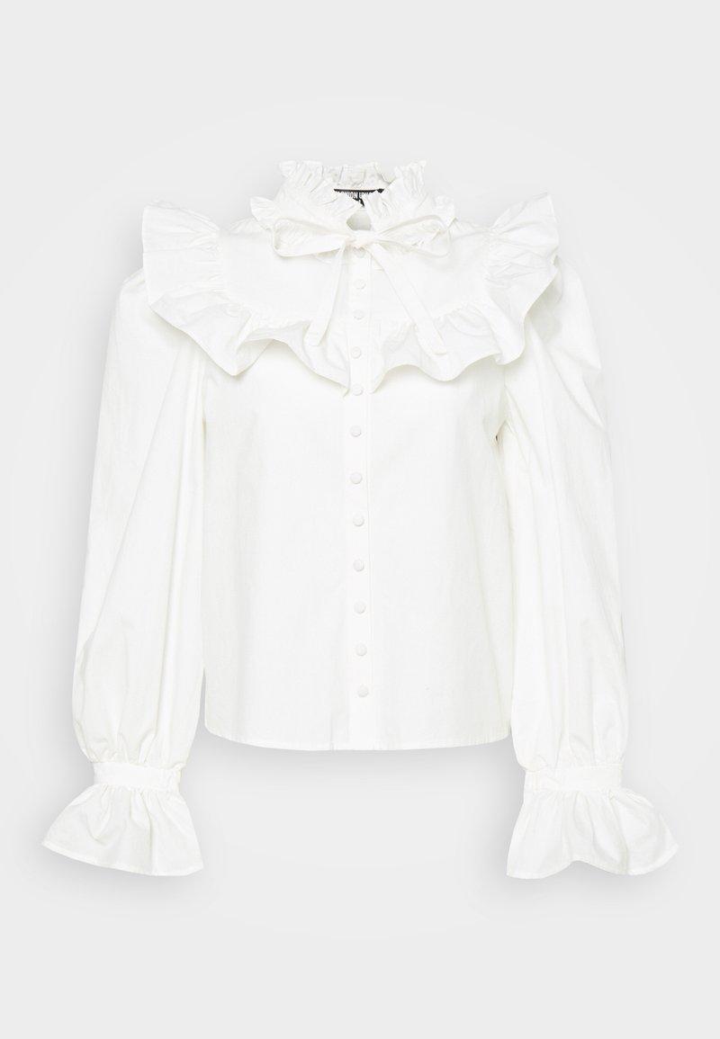 Fashion Union - YOGHURT - Blus - cream cotton
