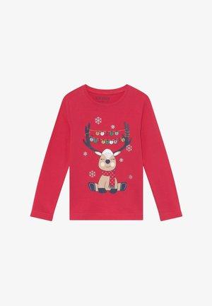 KIDS CHRISTMAS REINDEER - Long sleeved top - hochrot