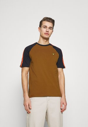 COLOUR BLOCK - Basic T-shirt - tawny brown