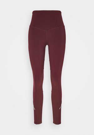 INSERT HIGHWAIST LEGGING - Leggings - burgundy