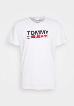 CORP LOGO TEE - T-shirt z nadrukiem - white