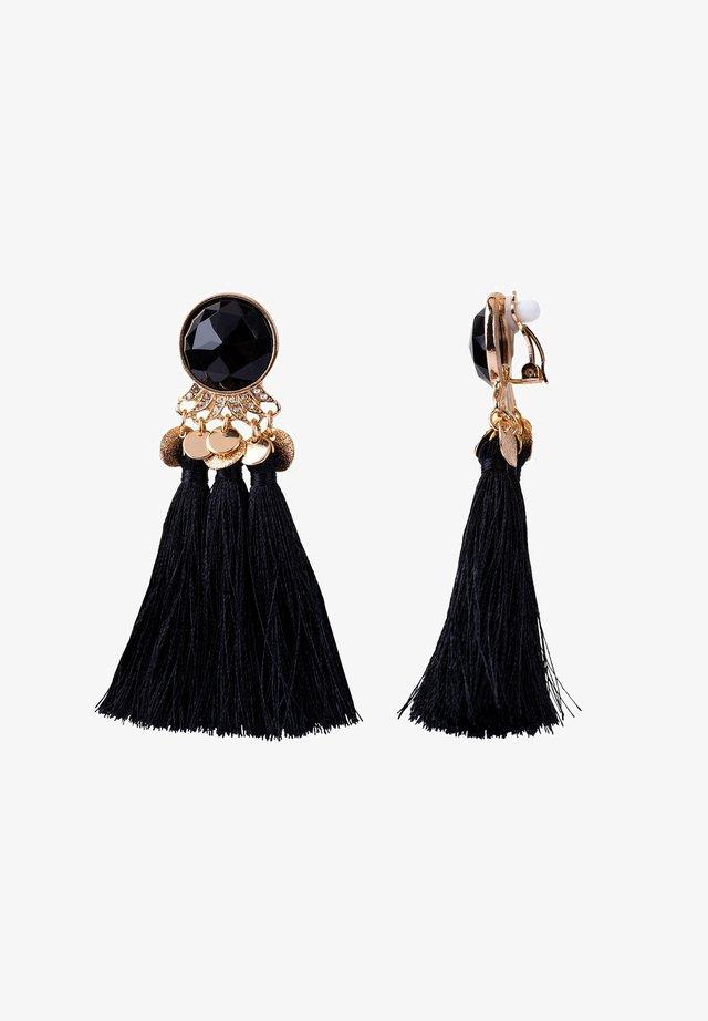 Earrings - black plus